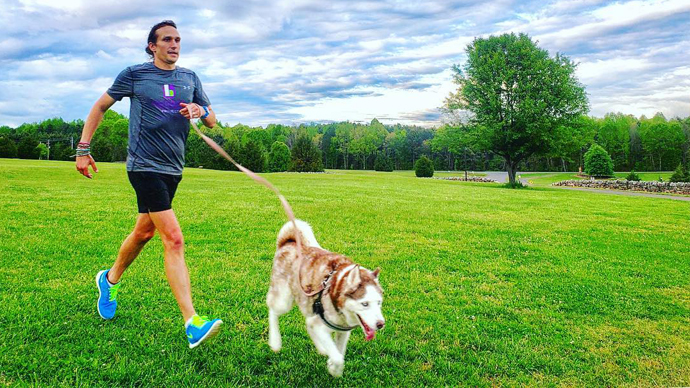 Scott Waldrop running for recovery