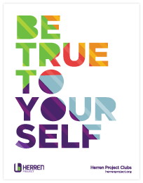 herren project club be true to yourself colored graphic poster